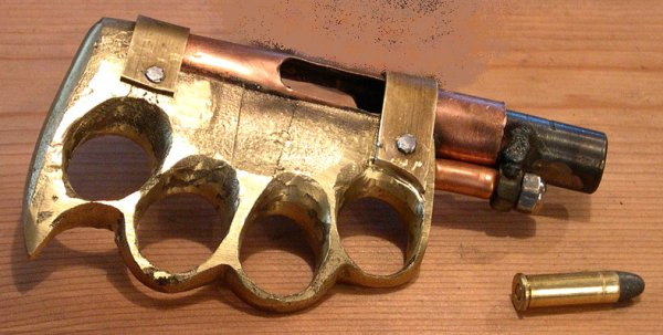 Homemade Knuckleduster Zip Gun, 38spl. pic 2